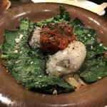 スペインバル ピー - 牡蠣とほうれん草!