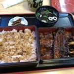 うなぎのしもむら - うな重 上(鰻一尾、きも焼付) 4,266円
