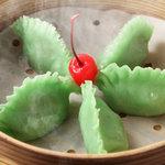 西安刀削麺酒楼 - ☆翡翠餃子☆野菜のみのヘルシー蒸し餃子