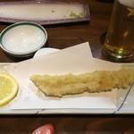 閃味処 料磨 - 穴子の天ぷら(600円)
