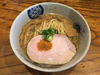 中華そば 先崎 - 宮崎地鶏と牡蠣と唐墨そば(800円)