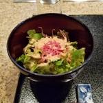 鉄板焼 煖 - ランチのサラダ