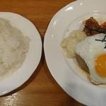 キッチン水野 - 和風ハンバーグ目玉焼き付き1000円