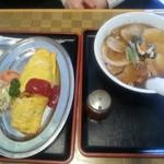 食堂うめのや - オムライスとチャーシュー麺