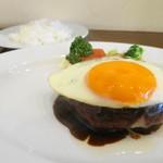 Grill TENPEI - 姫路肉汁ハンバーグMサイズ1600円+ライス300円