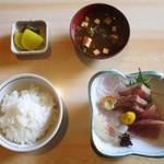 田仲家 - 刺身定食 650円(税込)。        2018.02.23