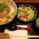 濤彩 - 週替りランチ。この日はチキンカツ丼¥780