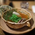 虎白 - 煮物 猪・菜の花・海老芋