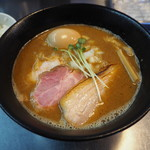 ボニートスープヌードルライク - 鰹×豚 RAIK らー麺 920円 + ライス50円(ランチサービス