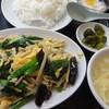 山水楼 - 料理写真:ニラ・玉子・肉の塩炒め。