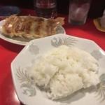 錦ちゃん餃子 - しそ餃子&ライス