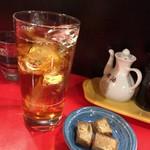 錦ちゃん餃子 - ウーロンハイ