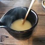 そば処 農 - 蕎麦湯