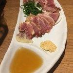 九州薩摩地鶏の個室居酒屋 九遠 - 薩摩地鶏雲丹ソース和え