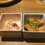 九州薩摩地鶏の個室居酒屋 九遠 - (先付)鮮魚と旬菜の冷菜
