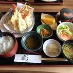 なかなか室屋 - 料理写真:天麩羅定食 お昼のメニュー 1200円