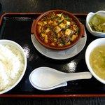 中国料理 登竜門 - 麻婆豆腐セット:850円