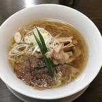 手打ち麺 やす田 - カツオ醤油 ※メンマ追加