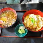 かずさ - カツ丼+たぬき蕎麦