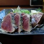 炭火焼 みや澤 - 鰹わら焼きタタキ(塩)