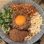 島田製麺食堂 - 煮干しまぜそば830円