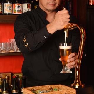 ★生オリオンビールで乾杯♪クリーミーな泡と爽やかな喉越し♪