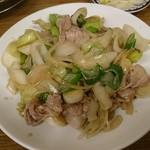 三ちゃん食堂 - ネギ肉イタメ