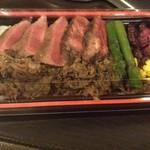 道の駅 なかがわ レストラン - 道産牛ステーキ重 1566円→1296円