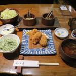 Katsukichi - かきフライ定食 3個  ※冬季限定