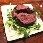 81447555 - ★⑧国産和牛赤身肉 シンタマ  「薬味はお好みでどうぞ」