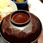 鍛冶屋 文蔵 - アオサの味噌汁