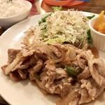 76CAFE - 豚バラ肉の生姜焼き(1,180円)