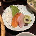 銀座 らん月 - 【お昼の和定食_ ¥1,950+税】お刺身2種 2切 2018/02/24(土)