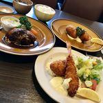 きなり食堂 - NEW昭和の洋食ランチ1950円+カニクリームコロッケ単品900円  税別