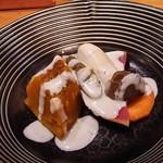 葉隠亭 - 晩酌セットの温野菜