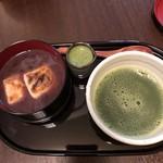 浅草花月堂 - 抹茶ぜんざい。セットなんですね。