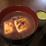 浅草花月堂 - 抹茶付きぜんざい。