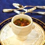 レストラン シャンボール - ■フォアグラのスープ