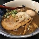 青森煮干し中華そば JIN - 極煮干し(中太麺)・トッピング味付玉子