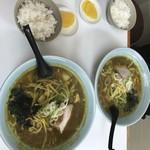 味の大王 - カレーラーメン(小ライス)