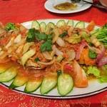 カンボジア家庭料理 シェムリアップ - 鯛の揚げ物のあんかけ?