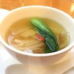 81460678 - やわらか白菜入りふかひれの蒸しスープ