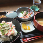 れんが亭 - 料理写真:かに丼定食