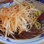 札幌館 - ネギラーメン(醤油)