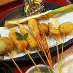 串かつ料理 活 - 串八本