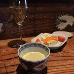 81463526 - 付き出し・旬菜盛・旬野菜スープ