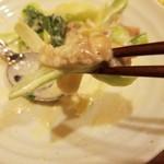 まったり~菜 - チンゲン菜と鶏肉のクリーム炒め