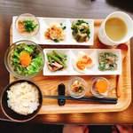 cafe くろねこ舎 - 玄米ご飯とベジタブルセット