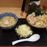 舎鈴 - 野菜つけ麺ネギトッピング