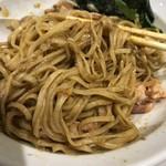 本町製麺所 阿倍野卸売工場 中華そば工房 - 汁なし中華そば(750円)まぜまぜ